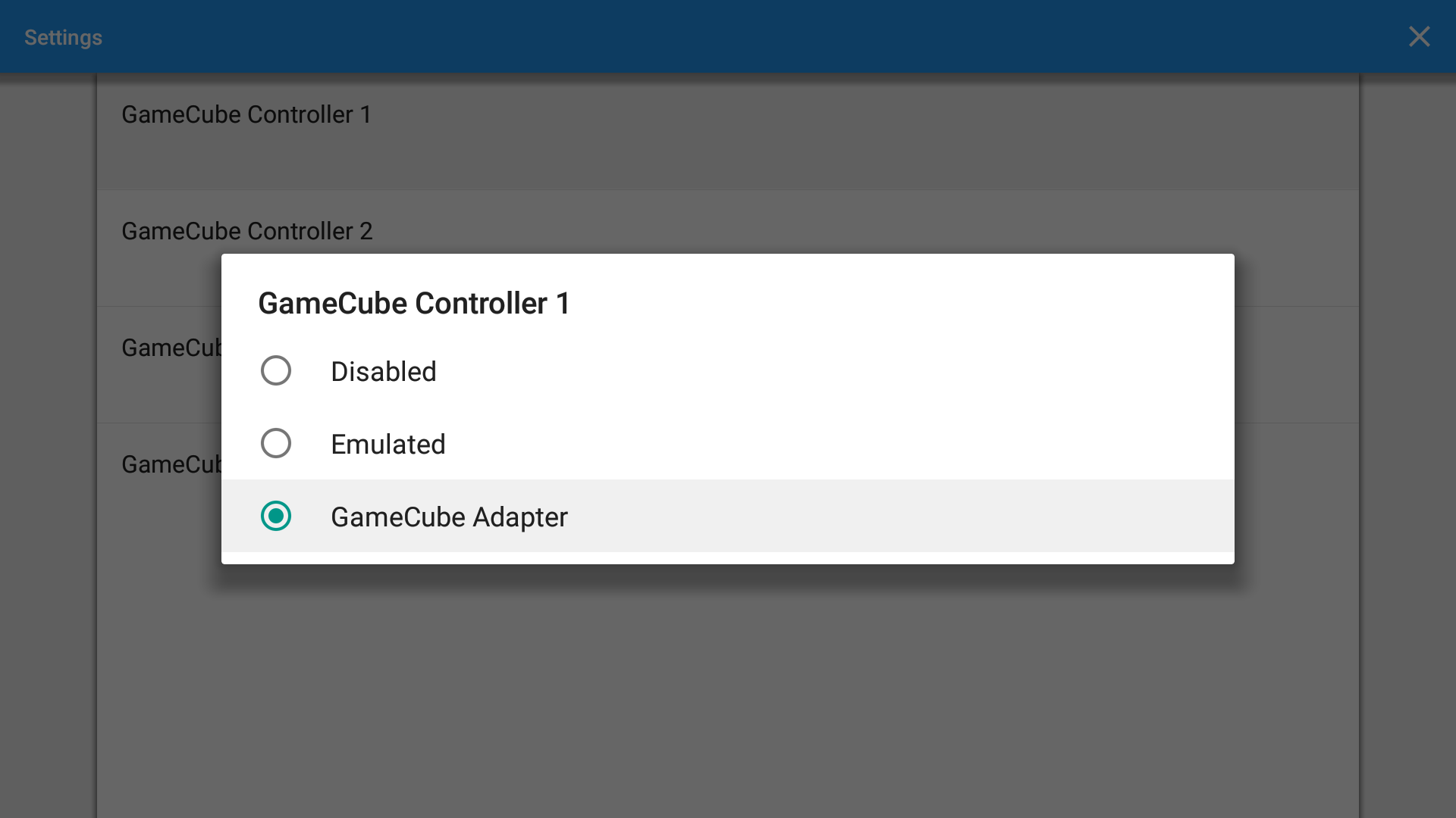 Android GameCube Controller Settings